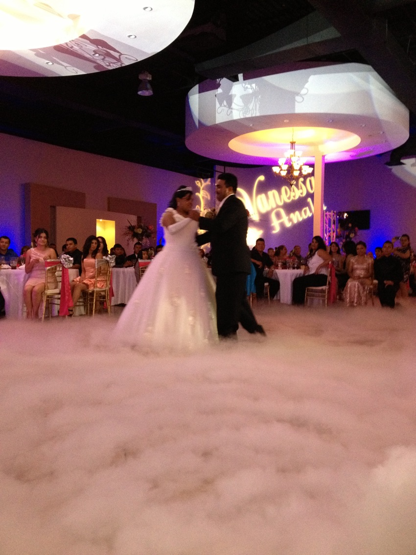 Smoke machine weddings