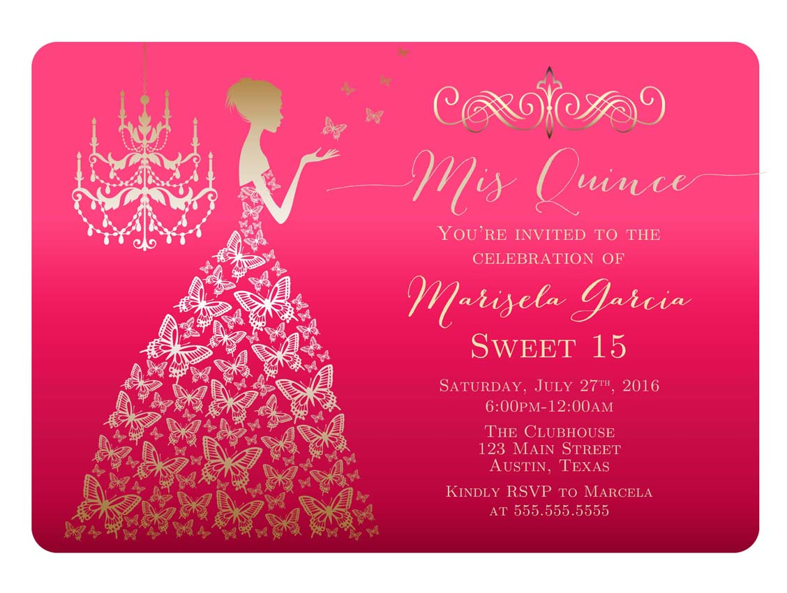 Find the most original quinceanera invitations in Houston ...