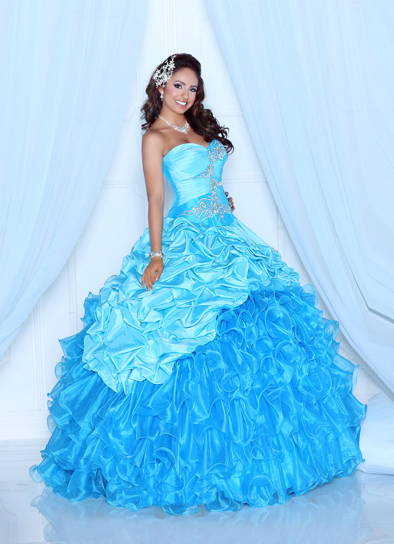 Davinci Quinceanera Dresses 80204 light blue