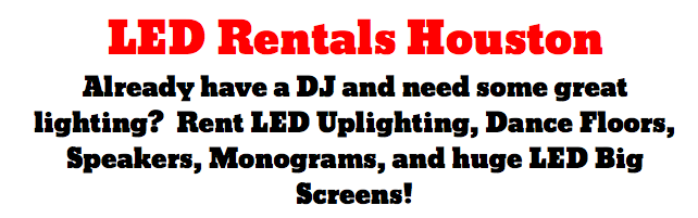 Led Rentals Houston Professional Uplighting And More