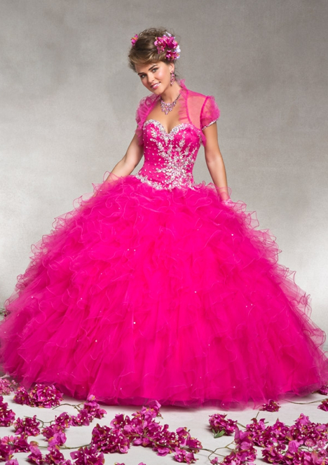 Mori Lee Quinceanera Dress hot pink 88063
