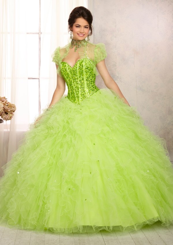 Mori Lee Quinceanera Dresses 88087 green