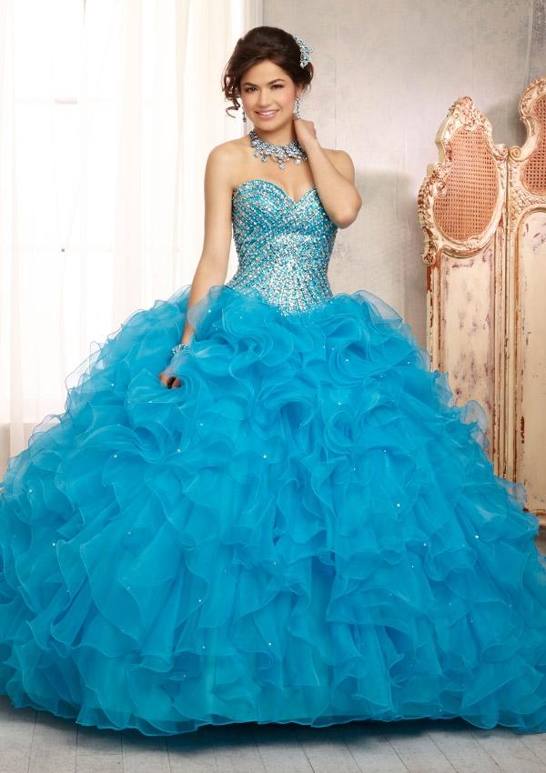 Mori Lee Quinceanera Dresses 88089 turquoise