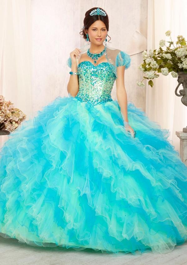 Mori Lee Quinceanera Dresses turquoise 88090