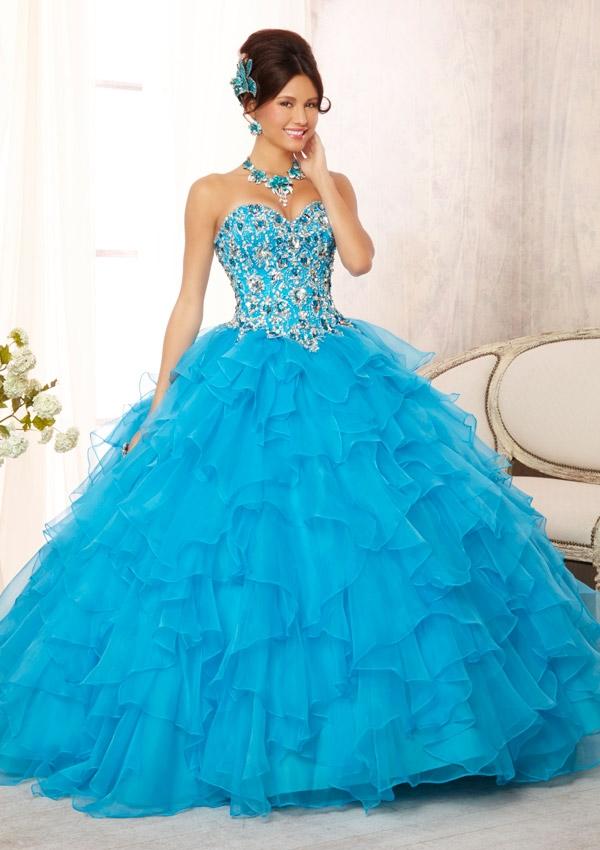 Mori Lee Quinceanera Dresses 88093 turquoise