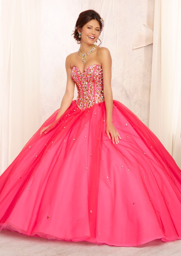 Mori Lee Quinceanera Dresses 88093 pink
