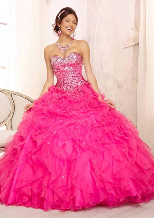Mori Lee Quinceanera Dresses pink