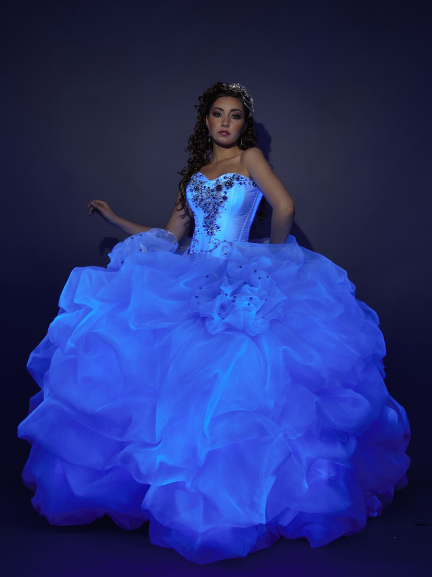 glow in the dark quinceanera dresses