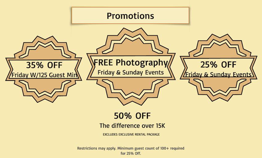 pelazzio ballroom discounts