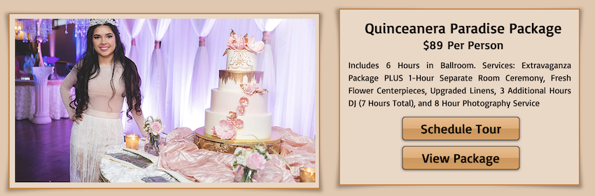 quinceanera packages for pelazzio