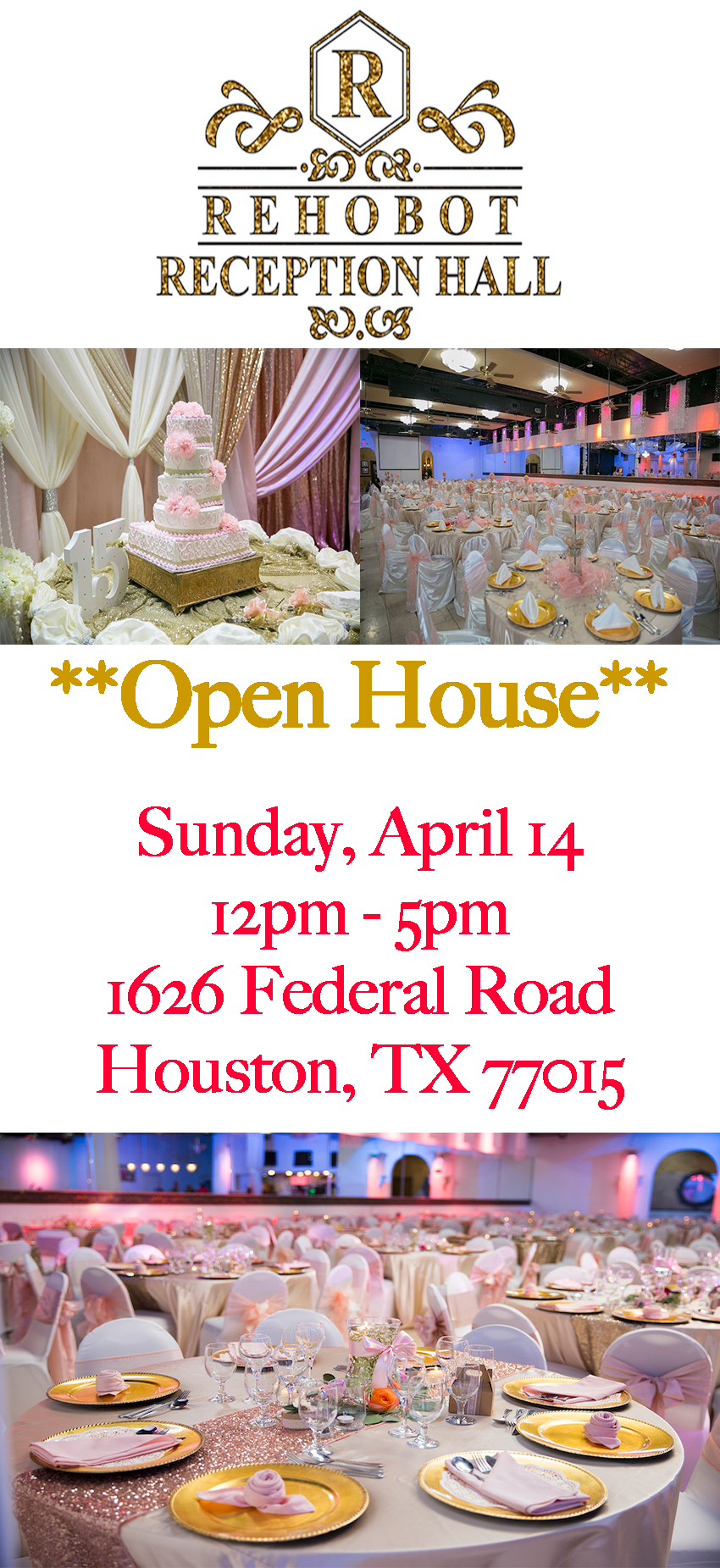 rehobot reception hall open house 2019