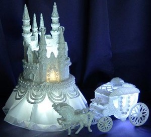 lighted cinderella castle wedding cake topper quinceanera cake toppers in houston tx quince cake 16859