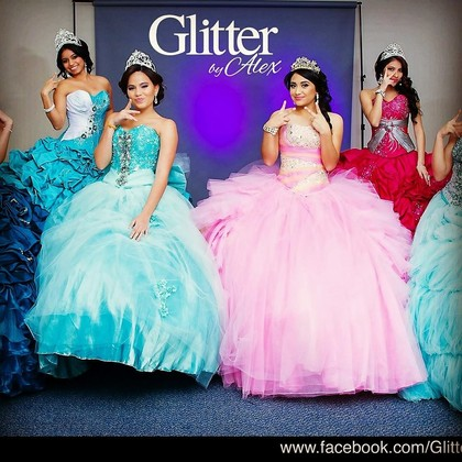 glitter by alex quinceanera couture