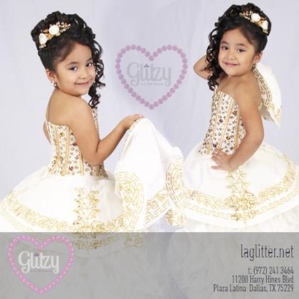 glitzy tres anos vestidos