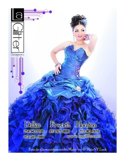 la glitter quince vestidos