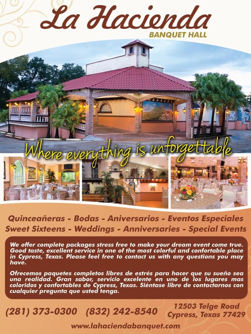 la hacienda banquet hall reception halls in cypress tx my