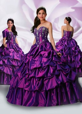 Davinci purple quinceanera dresses