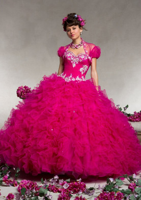 Mori Lee 88076 hot pink