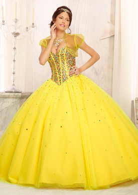 Mori Lee 88093 yellow