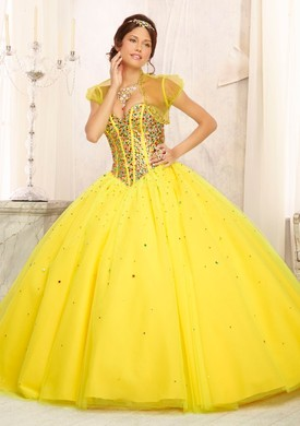 Mori Lee Quinceanera Dresses 88093 yellow