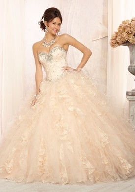 Mori Lee Quinceanera Dresses 88097 ivory