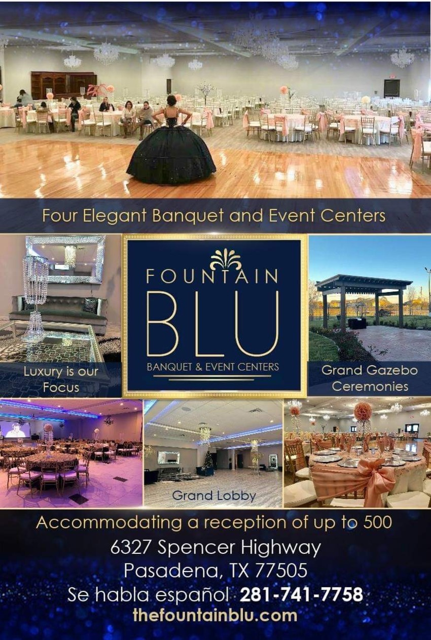 fountain blu reception hall pasadena tx