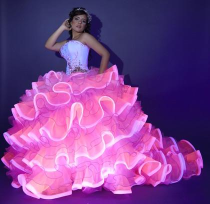 glow in the dark quinceanera dresses