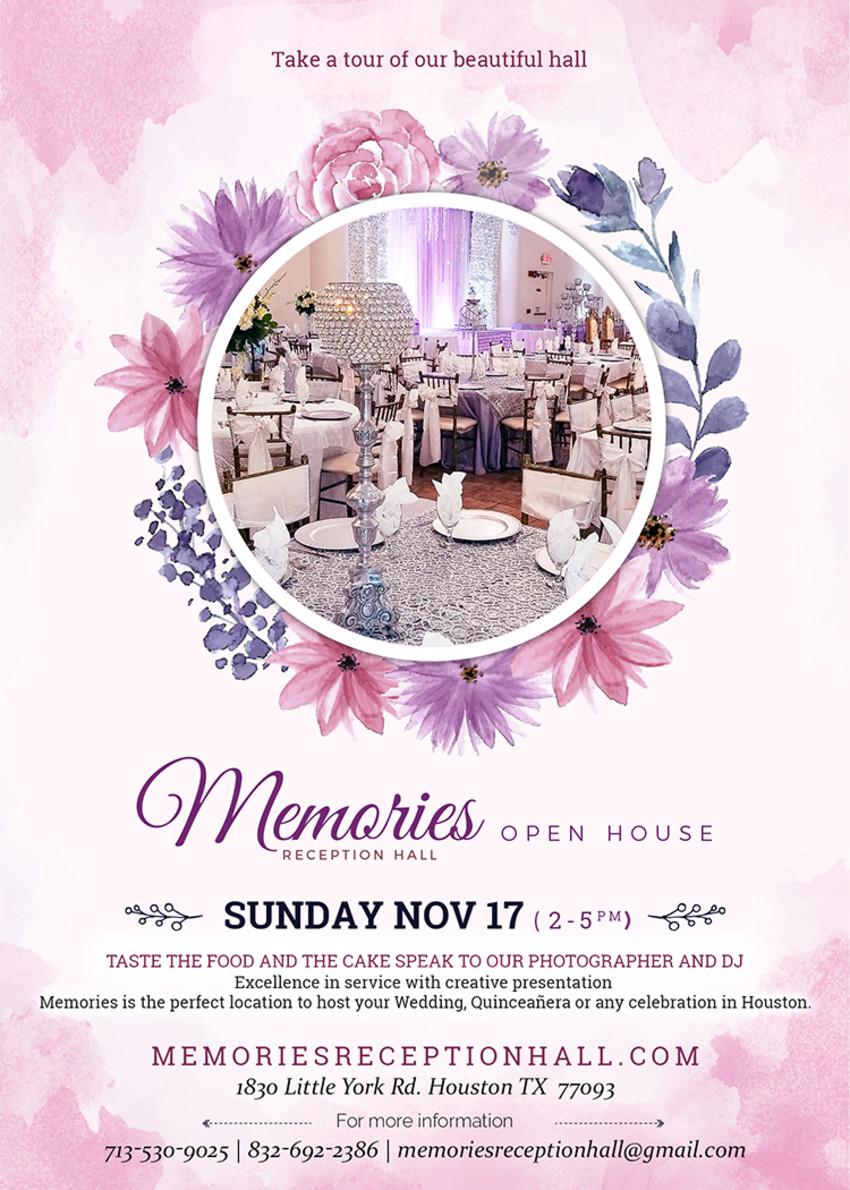 memories reception hall open house november 2019
