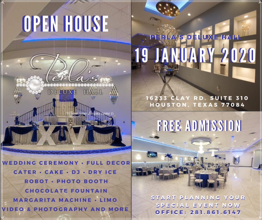 perlas deluxe open house jan 2020