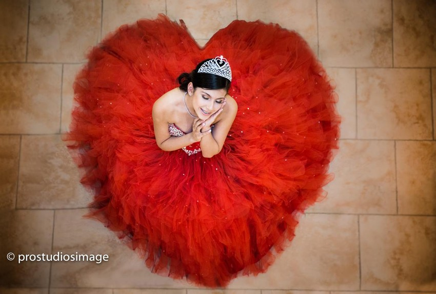 quinceanera heart photography