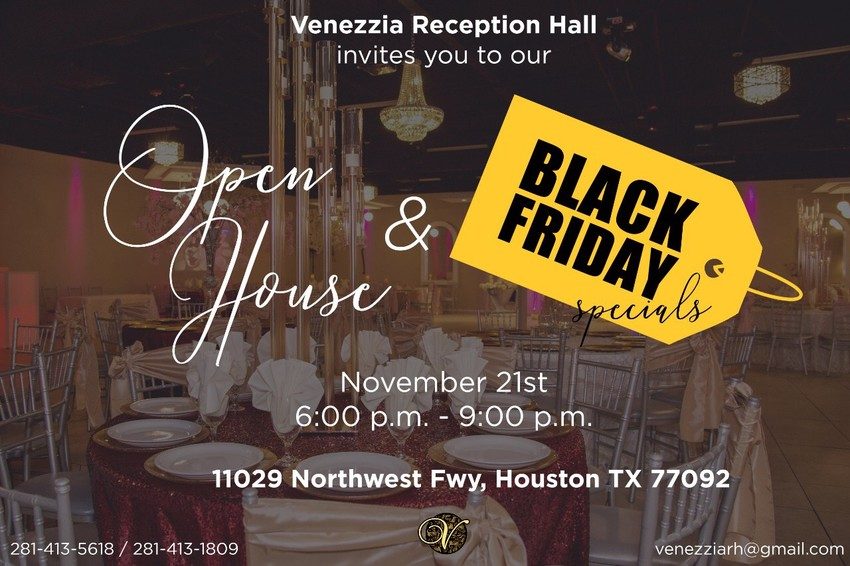 venezzia reception hall open house
