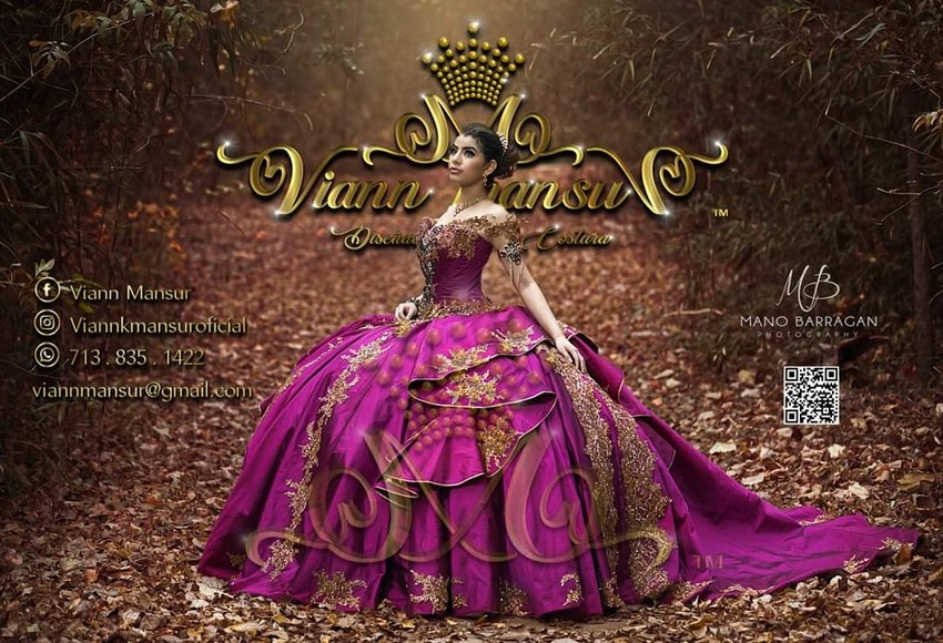viannk mansur quinceanera dress